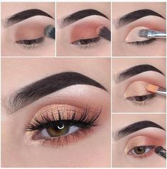 Schönes Augen Make-up Step by step how to achieve a soft glam makeup tutorial look Wedding Favors – Smoky Eye Makeup, Red Lip Makeup, Eye Makeup Steps, Makeup Eye Looks, Glam Makeup, Makeup Eyeshadow, Eyeshadow Palette, Blue Eyeshadow, Makeup Inspo
