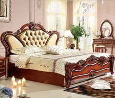 Italian Bedroom Furniture, Small Furniture, Home Furniture, Furniture Ideas, Elegant Home Decor, Elegant Homes, Leather Bed, Soft Leather, Leather Stool