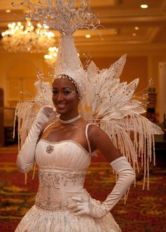 Pzazz Ice Princess Living Table #pzazzproductions #iceprincess #white #LivingTable #events #holiday #entertainment #costume Costume Ideas, Costumes, Snow Outfit, Ice Princess, Snow And Ice, Ice Queen, Stage Outfits, Wizard Of Oz, Hat Making