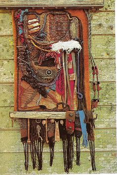Hanging in Wool With Found Objects by glen.h, via Flickr