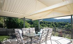 Enjoy the space and freedom to relax, entertain and play with a Spanline patio or verandah. With our range of styles you can mix & match to create a unique design that is perfect for you & your home. Change the way you play®️ with Spanline. Carport Patio, Pergola, Outdoor Tables, Outdoor Spaces, Outdoor Decor, Gable Roof, Australian Homes, Screened In Porch, Home Additions