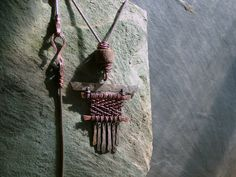 Wyrd Sister -  Primitive Anglo-Saxon loom necklace, sterling silver and copper by EarthenMe on Etsy https://www.etsy.com/listing/196864961/wyrd-sister-primitive-anglo-saxon-loom