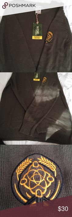 NWT Men's organic cotton sweater New never worn men's Bamboo & organic Cotten sweater. Olive green, XL. satori Sweaters