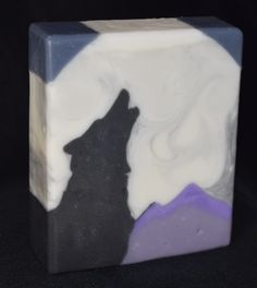 """howling wolf"" - soap challenge club, sculpted layers technique"