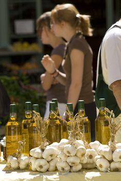 Huile d'olive de Nyons et ail blanc de la Drôme