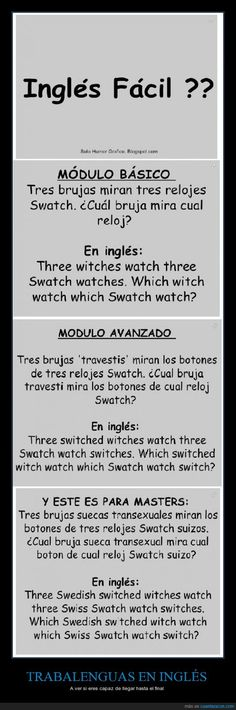 38 Ideas Memes Divertidos En Ingles For 2019 English Time, English Course, Spanish English, English Phrases, English Study, English Class, English Words, English Lessons, English Grammar