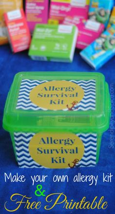 Make your own allergy survival kit this season and never be left suffering through seasonal allergies!  Free printable is super cute! #WellatWalgreens #Shop #Cbias