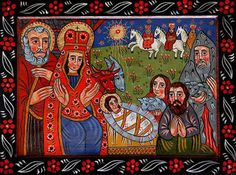 Religious Images, Religious Icons, Religious Art, Jesus Christ Images, The Birth Of Christ, Three Wise Men, Ukrainian Art, Art Icon, Holy Family