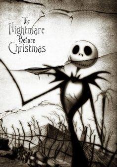 THE NIGHTMARE BEFORE CHRISTMAS Movie Poster Jack Tim Burton