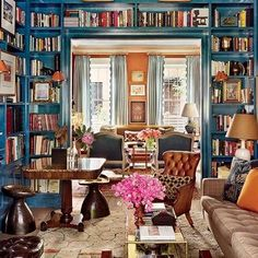 60 Amazing Library Room Design Ideas With Eclectic Decor Reading Room Decor, Boys Room Decor, Home Library Design, House Design, Design Desk, Diy Design, Home Interior, Interior Design, Library Room