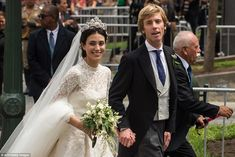dailymail: Religious Wedding of Prince Christian of Hanover and Alessandra de Osma, Peru, March 16, 2018-The couple, who married civily in November, wed in Alessandra's native country of Peru