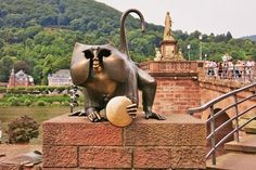 Heidelberg Bridge Monkey – Heidelberg, Germany - Atlas Obscura