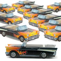 Classic Cruisers� 57 Chevy Hot Rod Paper Food Containers Set of 12