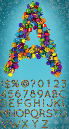 Christmas Ornament Letters - Text 3D Renders Christmas ornament letters pack All characters are in a 8000×8000 pixel resolution in a layered psd file contains letters from A-Z, numbers 0-9, and symbols !, @, $, %, ?