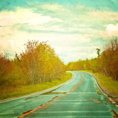 SALE 30 OFF Teal green photography  road and by ara133photography
