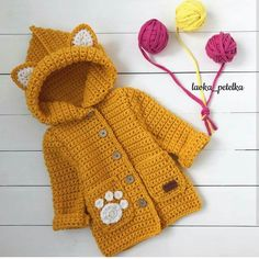 Ideas Knitting Baby Coat Kids Fashion For 2019 Crochet Baby Jacket, Crochet Coat, Baby Girl Crochet, Crochet Baby Clothes, Crochet Baby Sweaters, Knitting For Kids, Baby Knitting Patterns, Crochet For Kids, Baby Patterns