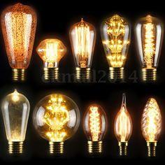 E27 40W Vintage Retro Filament Edison Tungsten Light Bulb Antique Style Lamp LED