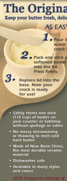 Butter Bell Crock. Butter Icing, Butter Recipe, Butter Dish, Butter Mochi, Cookie Butter, Butter Bell, Butter Pasta, Butter Shrimp, Butter Brickle