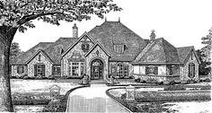 Chateau House Plan with 4270 Square Feet and 4 Bedrooms(s) from Dream Home Source | House Plan Code DHSW49263