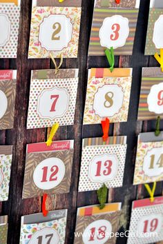 This free Thanksgiving Advent {Blessing Countdown} is a great way to count your blessings and establish a tradition of gratitude and contentment for the whole month of November. Get it today at www.TeepeeGirl.com.