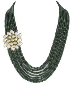 Olive 7 Line Kundan Necklace