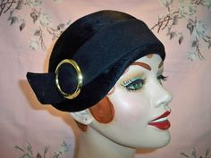 Vintage 1950s Ladies Mr John Navy Cloche Hat by BlackRain4 on Etsy https://www.etsy.com/listing/129119960/vintage-1950s-ladies-mr-john-navy-cloche
