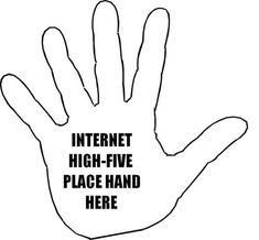 here is a quick internet high five :-) #socialmedia #santiago #inboundmarketing