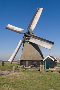 Polder mill Molen N-M of Noorder-M, Sint Maartensvlotbrug, the Netherlands.