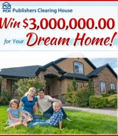 Enter to win 3 Million Dollars for your dream home with the Publishers Clearing House giveaway. PCH sweepstakes are epic. This is no exception. Instant Win Sweepstakes, Online Sweepstakes, Wedding Sweepstakes, Travel Sweepstakes, Pch Dream Home, 3 Million Dollars, Lotto Winning Numbers, Win For Life, Winner Announcement