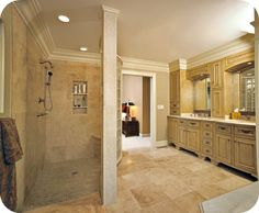 Hollow Crest House Plan   Free Online Image House Plans    Showers With No Doors On Pinterest Walk In Shower Open Showers on hollow crest house plan