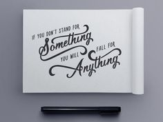 Stand For Something Quote