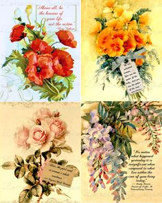 Victorian Floral  Inspirational Graphic by LorrainesGraphiques, $3.95