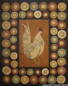 DIY Penny Rug Rabbit and Rooster Painting E-Pattern by Donna Atkins. $6.99, via Etsy.