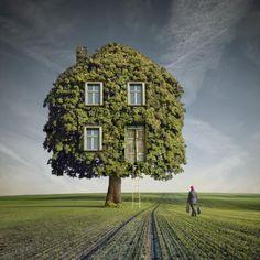 wooden house - Photo Manipulation by Dariusz Klimczak  <3 <3