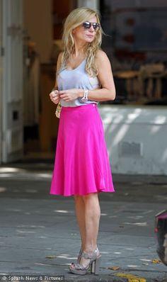 pink skirt - Geri Halliwel