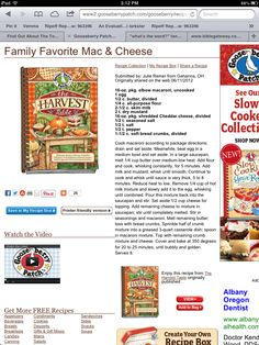 Family favorite macaroni and cheese from gooseberry patch.com