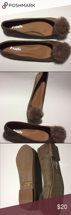 Brand New Flats with Fur Pom Size 10 Brand New Flats with Fur Pom Size 10 (Runs Small) Dazzle Shoes Flats & Loafers