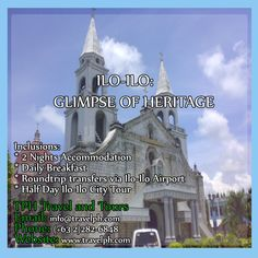 ILO-ILO: GLIMPSE OF HERITAGE Minimum of 2 persons to travel  For more inquiries please call: Landline: (+63 2)282-6848 Mobile: (+63) 918-238-9506 or Email us: info@travelph.com #Iloilo #Philippines #TravelPH #TravelWithNoWorries Statue Of Liberty, Philippines, Taj Mahal, Tours, Night, City, Travel, Statue Of Liberty Facts, Viajes