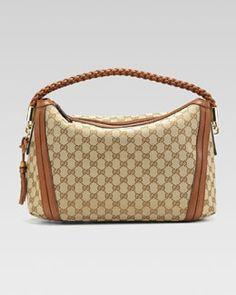 V1CNE Gucci Bella Medium Hobo Bag, Cuir