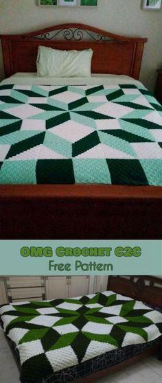 OMG Crochet C2C Carpenter's Wheel in C2C Free Pattern