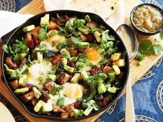 The Best #Potato Hash #Recipe... Made with Yukom Gold potatoes, cubed pork, beef or corned beef, salt and pepper to taste, cilantro, cumin, paprika, crisp vegetables of your choice (peppers, onions, spring onions), eggs at the end.