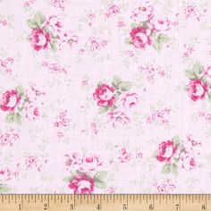 Tanya Whalen Slipper Roses Washed Roses Pink from @fabricdotcom  Designed by Tanya Whelan for Free Spirit, this cotton print is perfect for quilting, apparel and home decor accents.  Colors include shades of green and shades of pink.