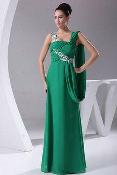 A-Linie bodenlangen Chiffon mit Applizierte Und Perlen Lange Abendkleider 224,86 €   121,94 €