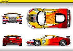 Dunlop Motorsport 2012 24 Hours Du Le Mans Art Car por MarkOlley