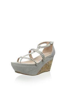 63% OFF Pura Lopez Women's Platform Sandal (Ante Pearl Grey)