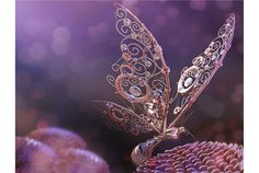 Francesca Forzoni - #Steampunk Mechanical Butterfly #Fantasy #Purple