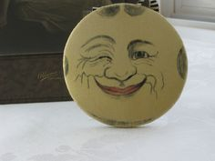 Vintage 1920's Winking Man in the Moon Flapper Silk Wall Hanging Whimsy Vanity Boudoir. $85.00, via Etsy. but can probably be made MUCH Cheaper