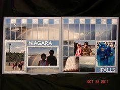 Niagara Falls - Mosaic Moments Scrapbook Layout by Minerva Mosaics