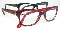 Garbo animal print red or black optical quality reading glasses @ Debspecs