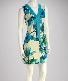 Take a look at this Blue Flowers Pick Themselves Floral Dress by Knitted Dove on #zulily today!  $49.99, regualr 123.00